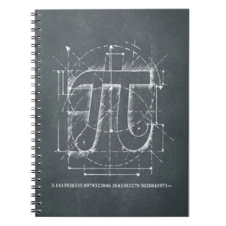 Pi Number Drawing Spiral Note Books