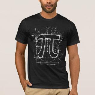 Pi Number Drawing T-shirt at Zazzle