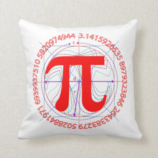 Pi Number Drawing Throw Pillow