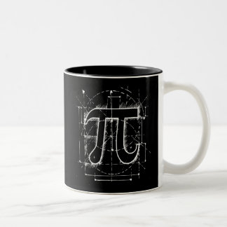 Pi Number Drawing Two-Tone Coffee Mug