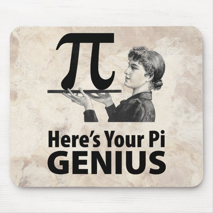 Pi Number Humor Mouse Pad