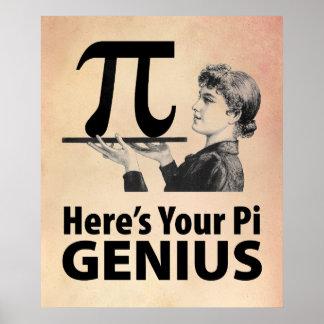 Pi Number Humor Poster