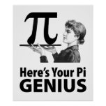 Pi Number Humor Posters