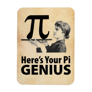 Pi Number Humor Rectangular Photo Magnet