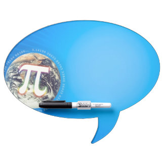Pi Number on Earth | Blue Dry Erase Board