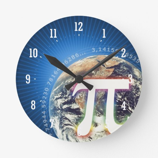 Pi Number on Earth | Geek Wall Clock