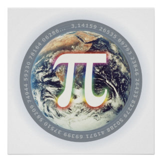 Pi Number on Earth - Math poster