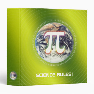 Pi Number on Earth | nerd green math binder