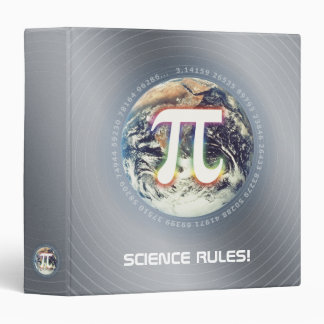 Pi Number on Earth | nerd silver math binder