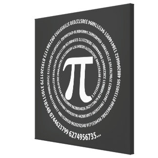 Pi Number Spiral Design Canvas Print