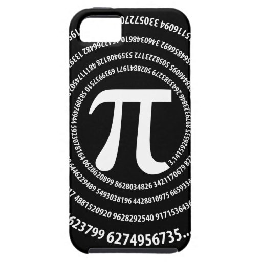 Pi Number Spiral Design iPhone 5 Covers