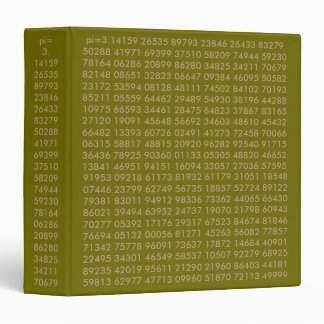 pi numbers, Math Love, 3 Ring Binder