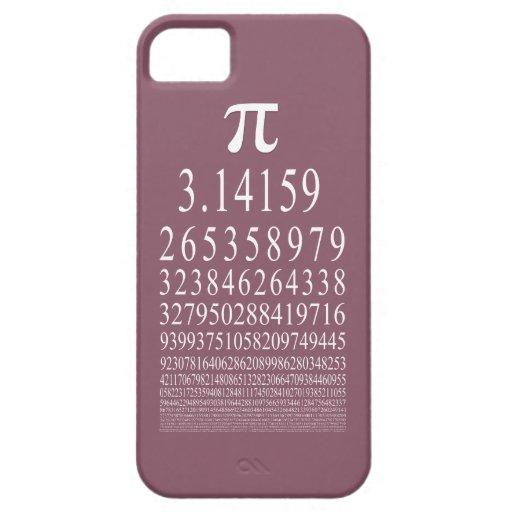 Pi número de muchos dígitos iPhone 5 carcasas