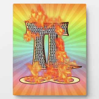 PI ON FIRE - PI DAY PLAQUE