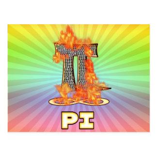 PI ON FIRE - PI DAY POSTCARD