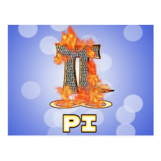 PI ON FIRE - PI DAY POSTCARD