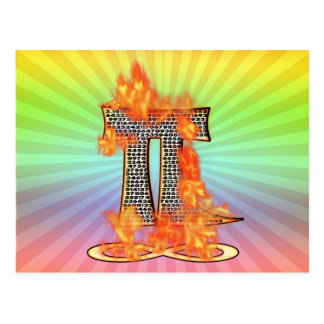 PI ON FIRE TO INFINITY POSTCARD