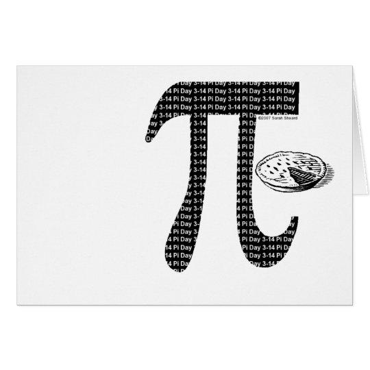 Pi One Pie Card