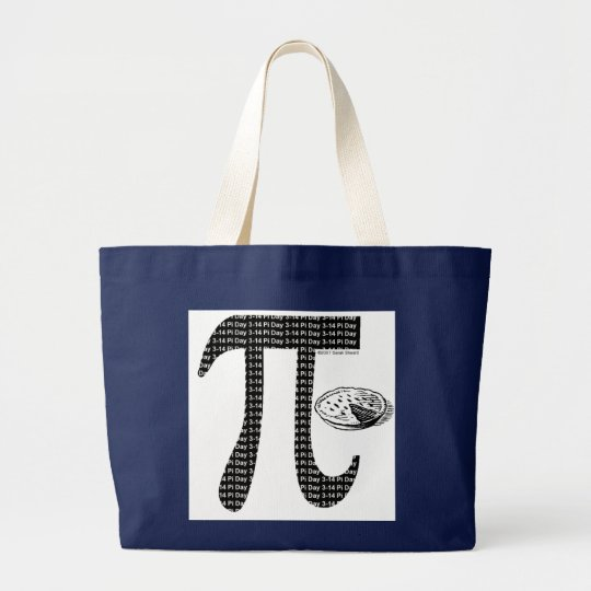 Pi One Pie Large Tote Bag