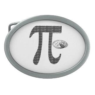 Pi One Pie Oval Belt Buckle