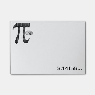 Pi One Pie Post-it Notes