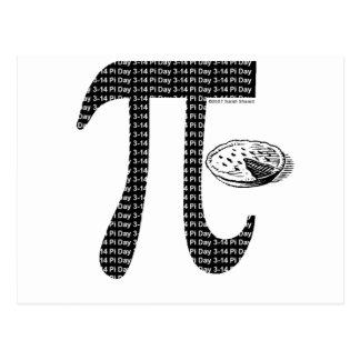 Pi One Pie Postcard