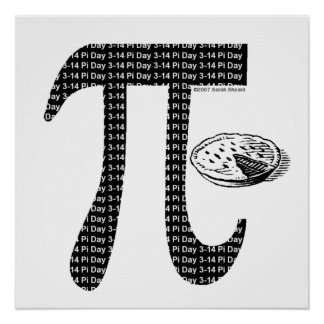 Pi One Pie Poster