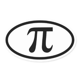 Pi Oval Sticker sticker