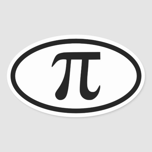 Pi Oval Sticker