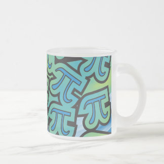 Pi Party Frosted Glass Coffee Mug