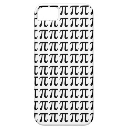 Pi Pattern Black iPhone 5 Cases