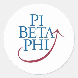 Pi Phi Logo Classic Round Sticker