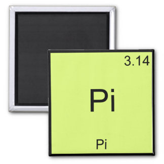 Pi - Pi Funny Math Element Chemistry T-Shirt 2 Inch Square Magnet
