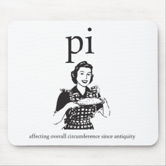 Pi / Pie Affects Overall Circumference Nerd Humor Mouse Pad