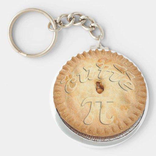 PI PIE CRUST! Cutie Pie - Celebrate Pi Day! π Key Chains