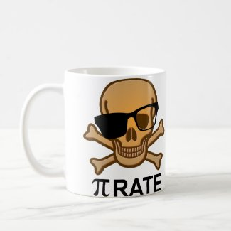Pi Pirate Funny Math Geometry Mug Geek Nerd
