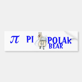 PI POLAR BEAR - HUMOR BUMPER STICKER