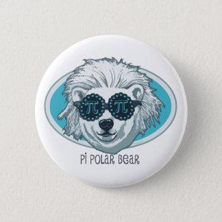 Pi Polar Bear Pinback Button