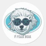Pi Polar Bear Stickers
