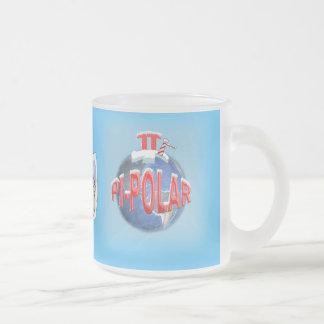 PI POLAR (NORTH POLE) MATH JOKE FROSTED GLASS COFFEE MUG