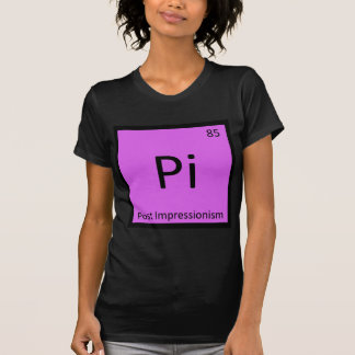 Pi - Post Impressionism Art Chemistry Symbol T-Shirt