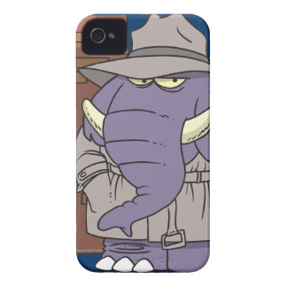 PI private eye spy sneaky elephant Case-Mate iPhone 4 Case