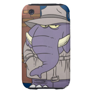 PI private eye spy sneaky elephant iPhone 3 Tough Covers