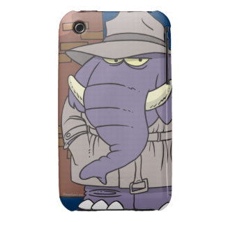 PI private eye spy sneaky elephant Case-Mate iPhone 3 Cases