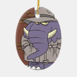 PI private eye spy sneaky elephant Christmas Ornament