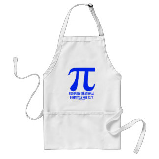 Pi Probably Irrational Definitely Not 22/7 (Blue) Adult Apron