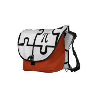 Pi Puzzle Rickshaw Messenger Laptop Book Bag