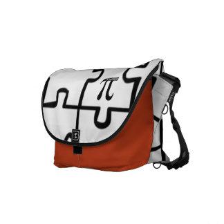 Pi Puzzle Rickshaw Messenger Laptop Book Bag Courier Bags