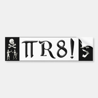 PI R8 - PIRATE SPELLED THE GEEK WAY BUMPER STICKER