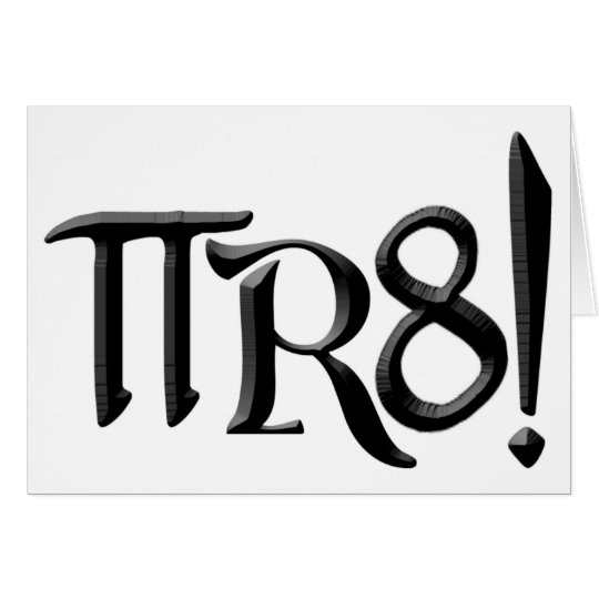 PI R8 - PIRATE SPELLED THE GEEK WAY CARD